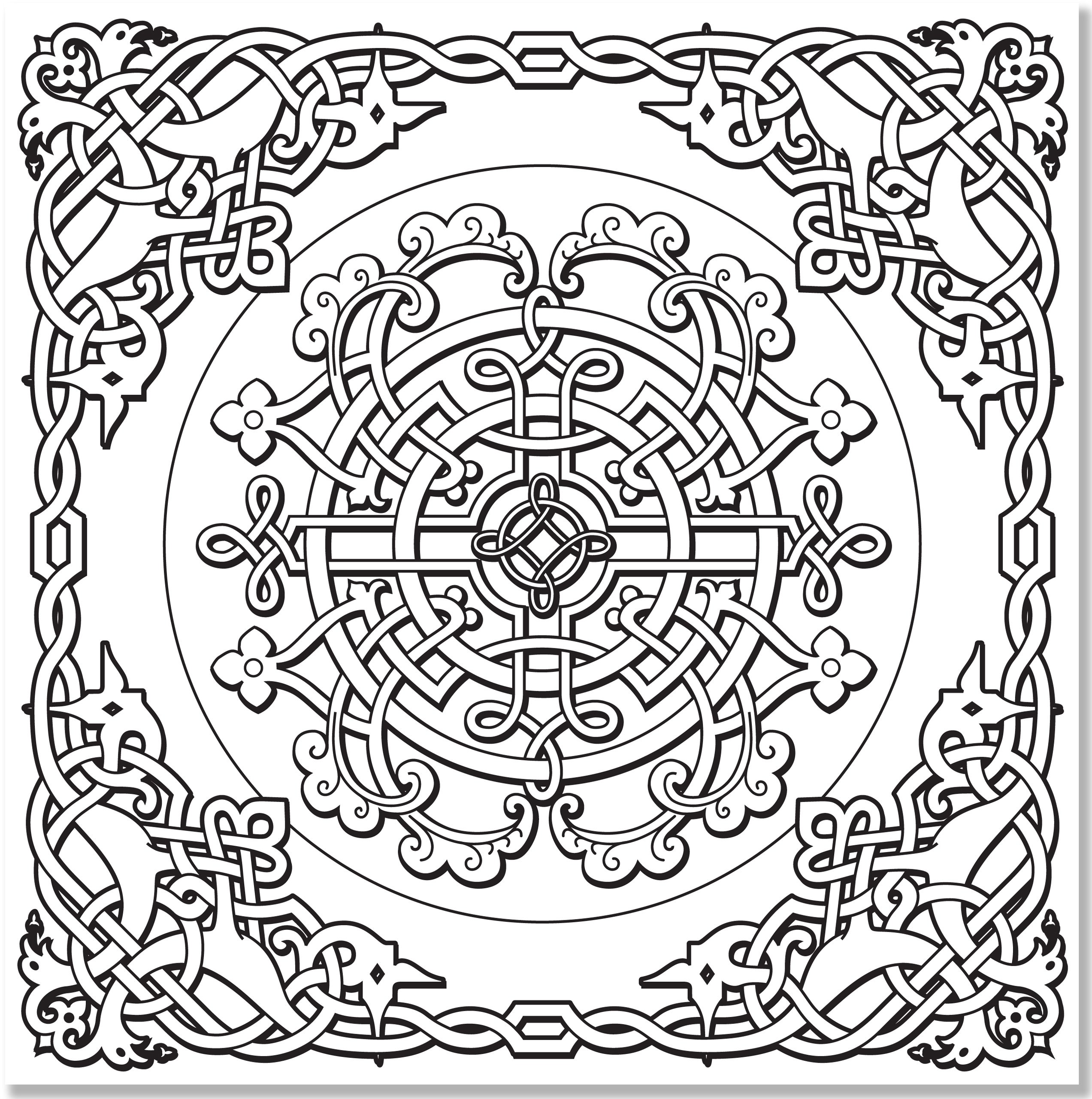 2545x2560 Celtic Coloring Pages Coloring Page Celtic Coloring Pages Crayola