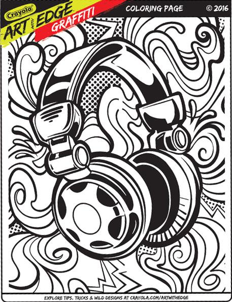 457x595 Crayola Art Edge Graffiti Coloring Pages Crayola Art