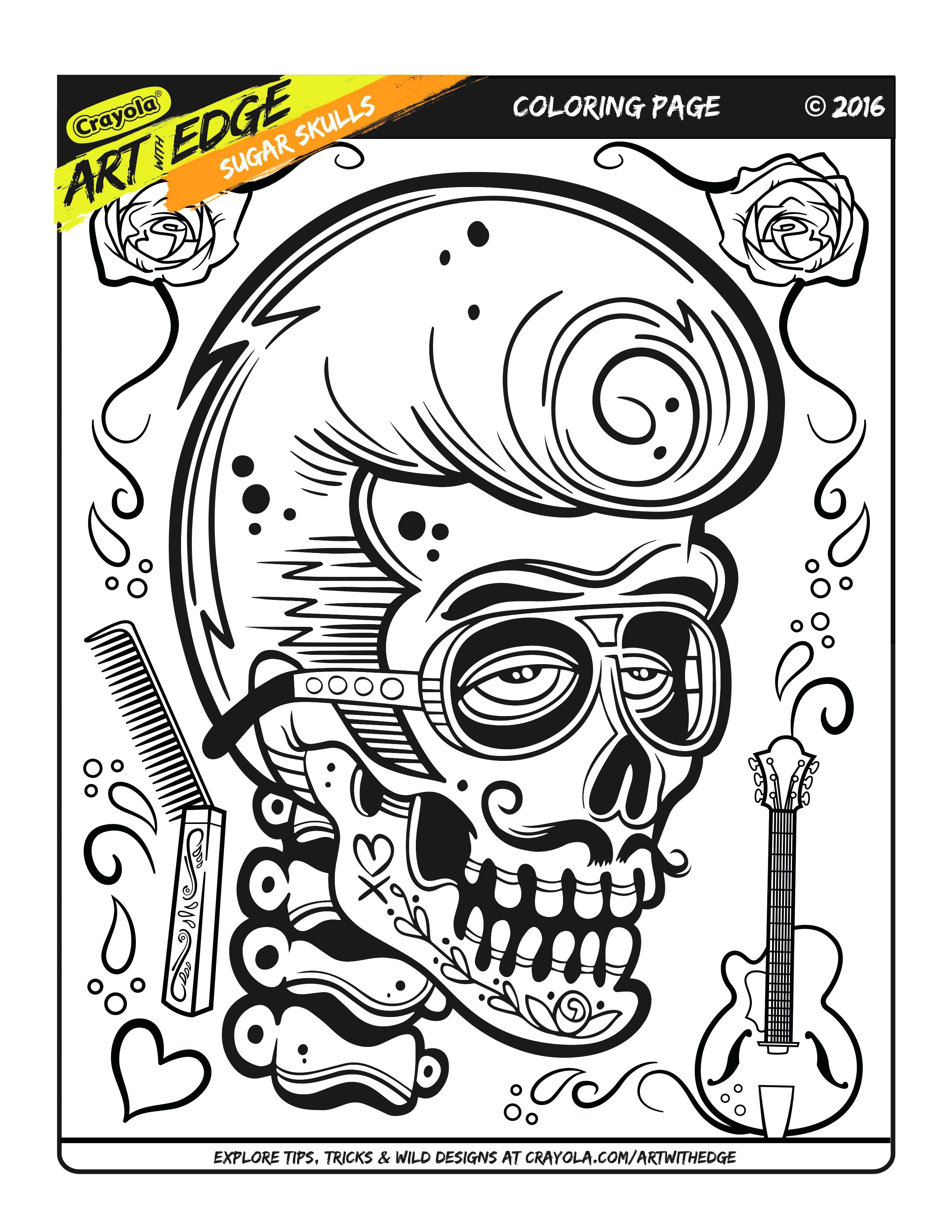 2550x3300 adult coloring pages free art with edge sugar skulls awe