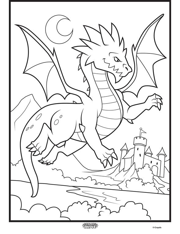 589x762 Bring This Dragon To Life Off The Page With Color Alive, The Fun