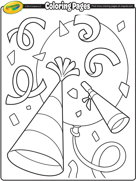 572x762 New Years Confetti Color Simple Crayola Com Coloring Pages