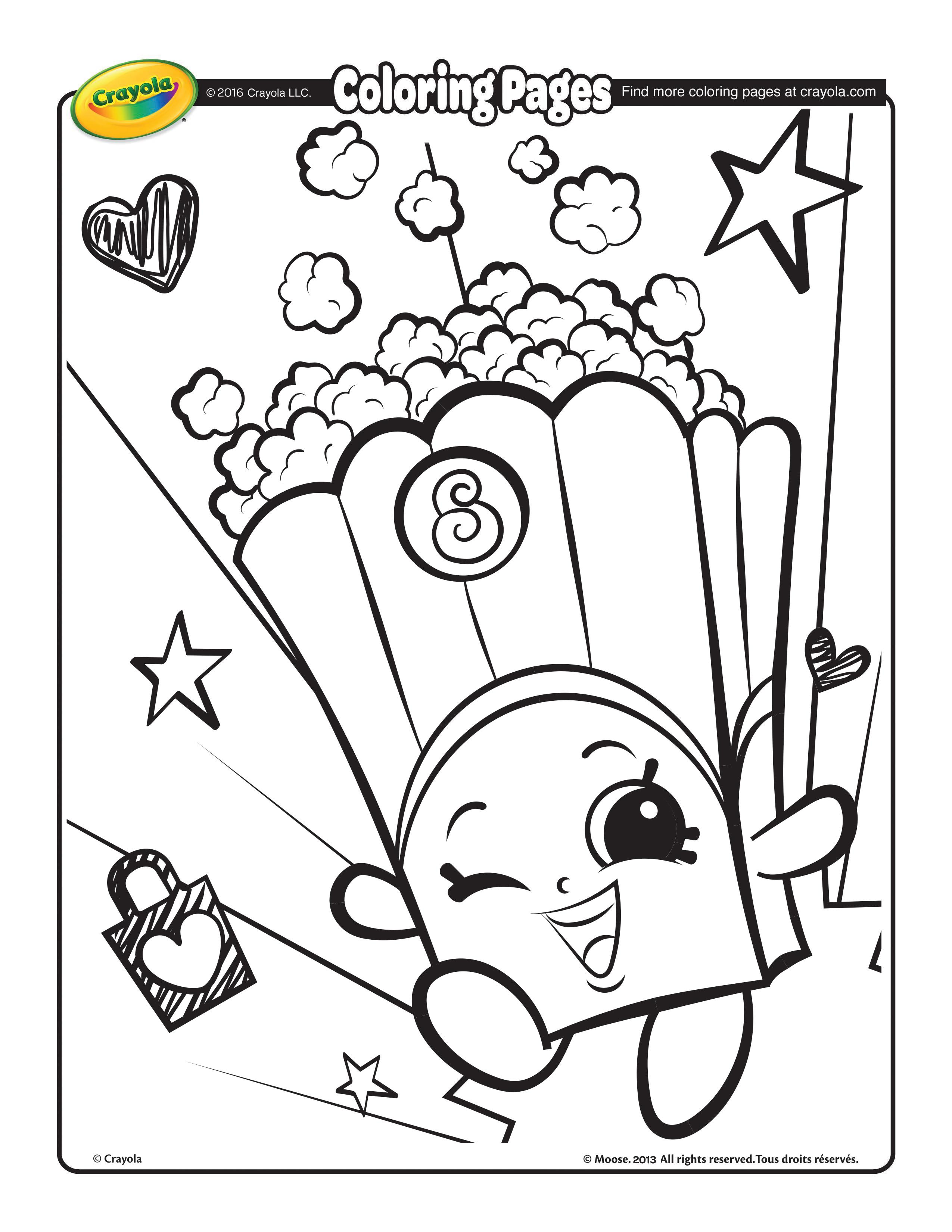 2550x3300 Shopkins, Poppy Corn Coloring Page
