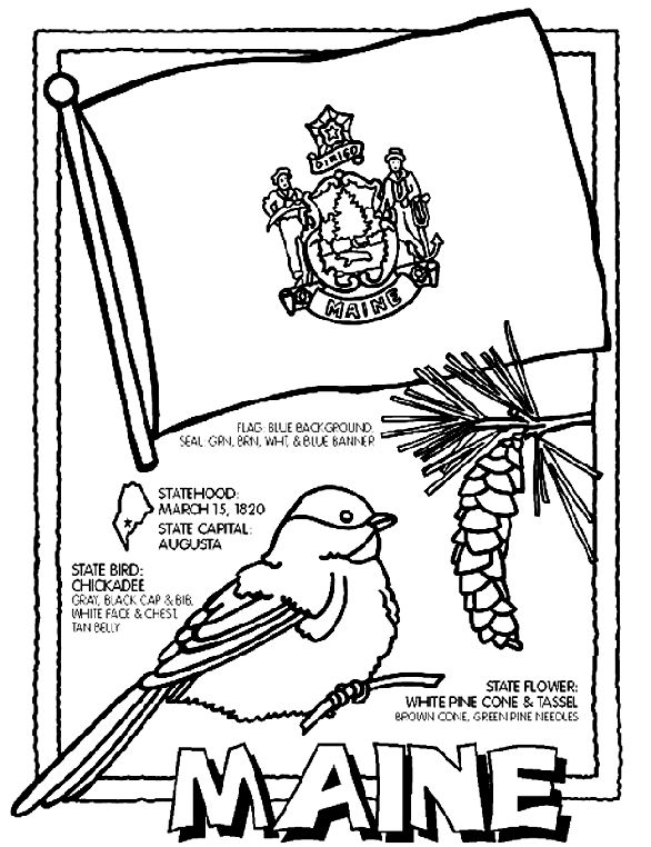 Crayola State Coloring Pages