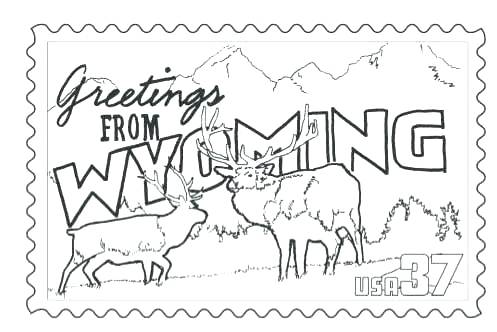 497x332 State Coloring Pages State Coloring Pages Stamp Coloring Page