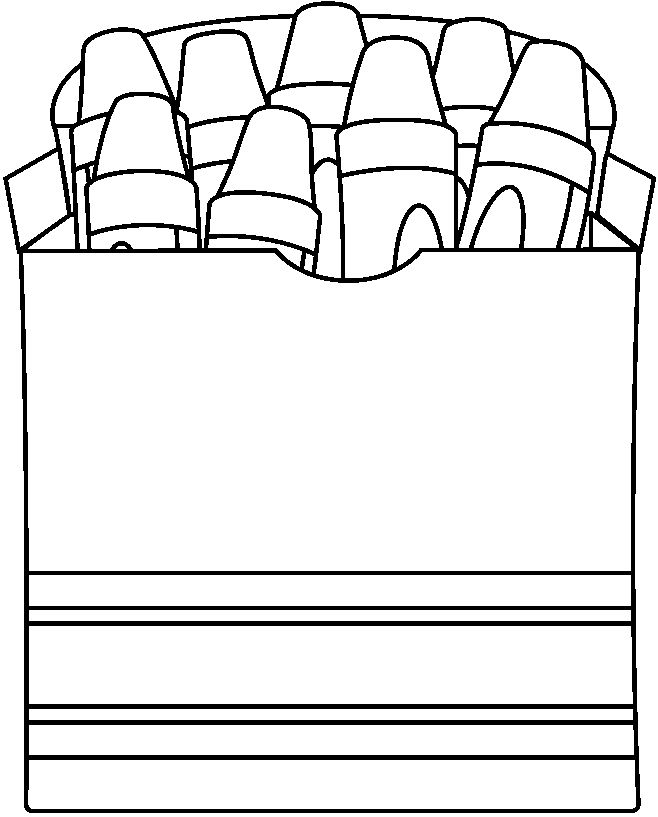 Crayon Box Coloring Page At Getdrawings Com Free For Personal Use