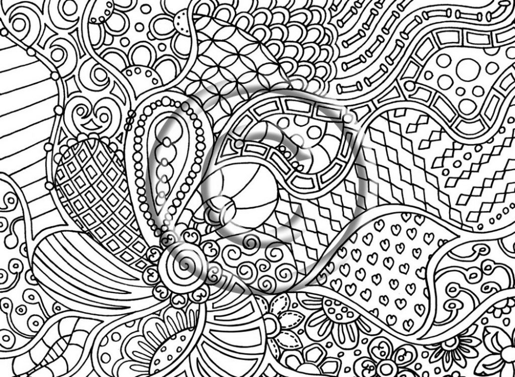 1024x750 Crazy Design Coloring Pages Crazy Psychedelic Colouring Pages