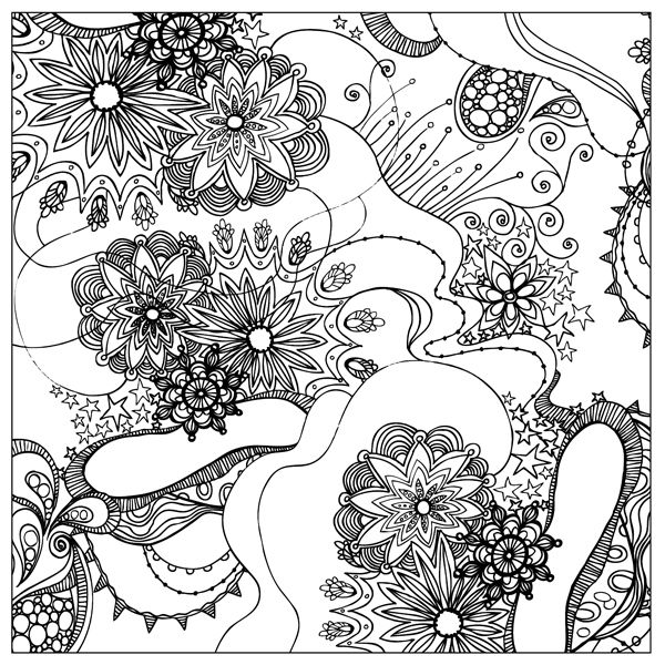 600x600 X Coloring Square Download