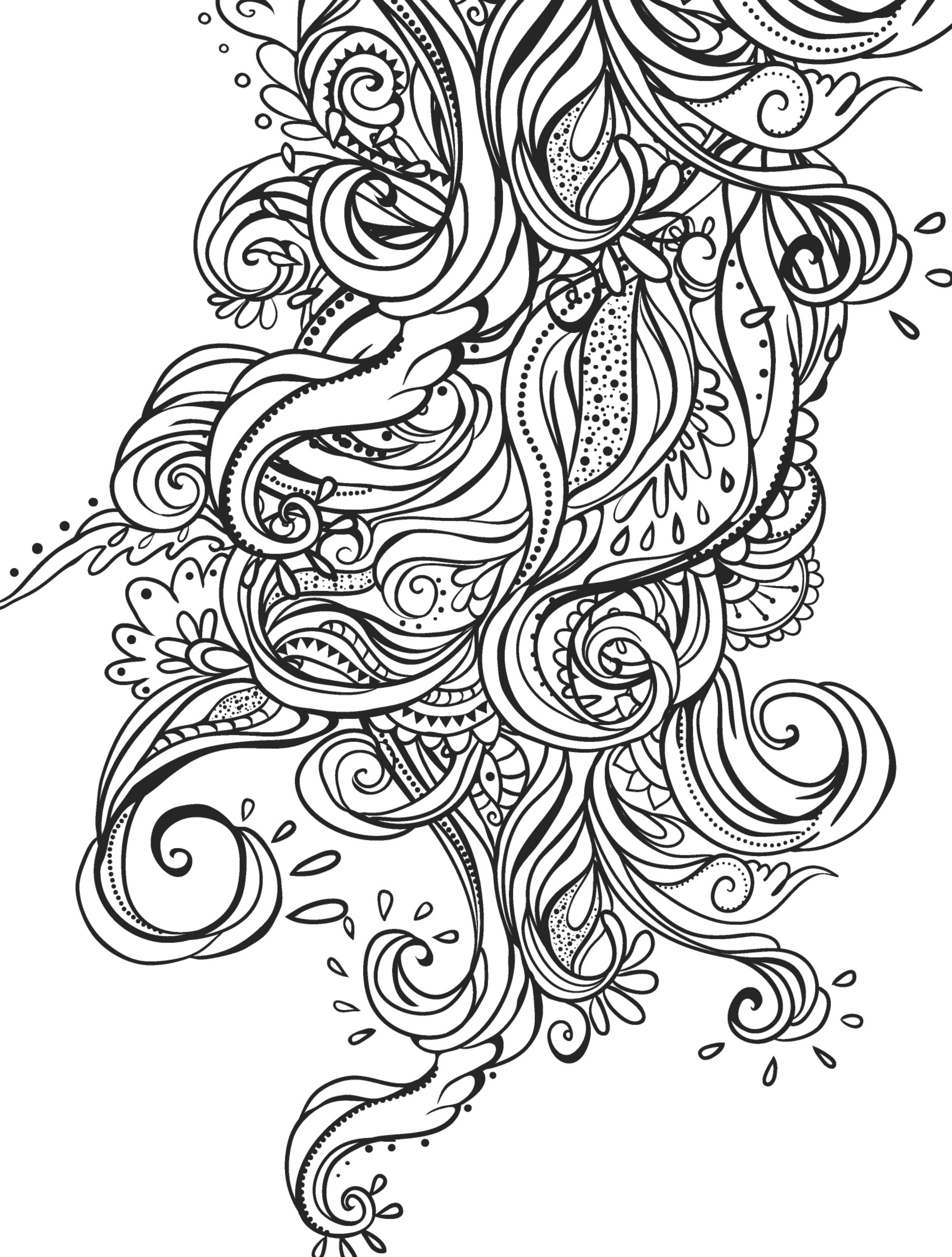 2500x3300 Crazy Busy Coloring Pages For Adults Page Of Crazy