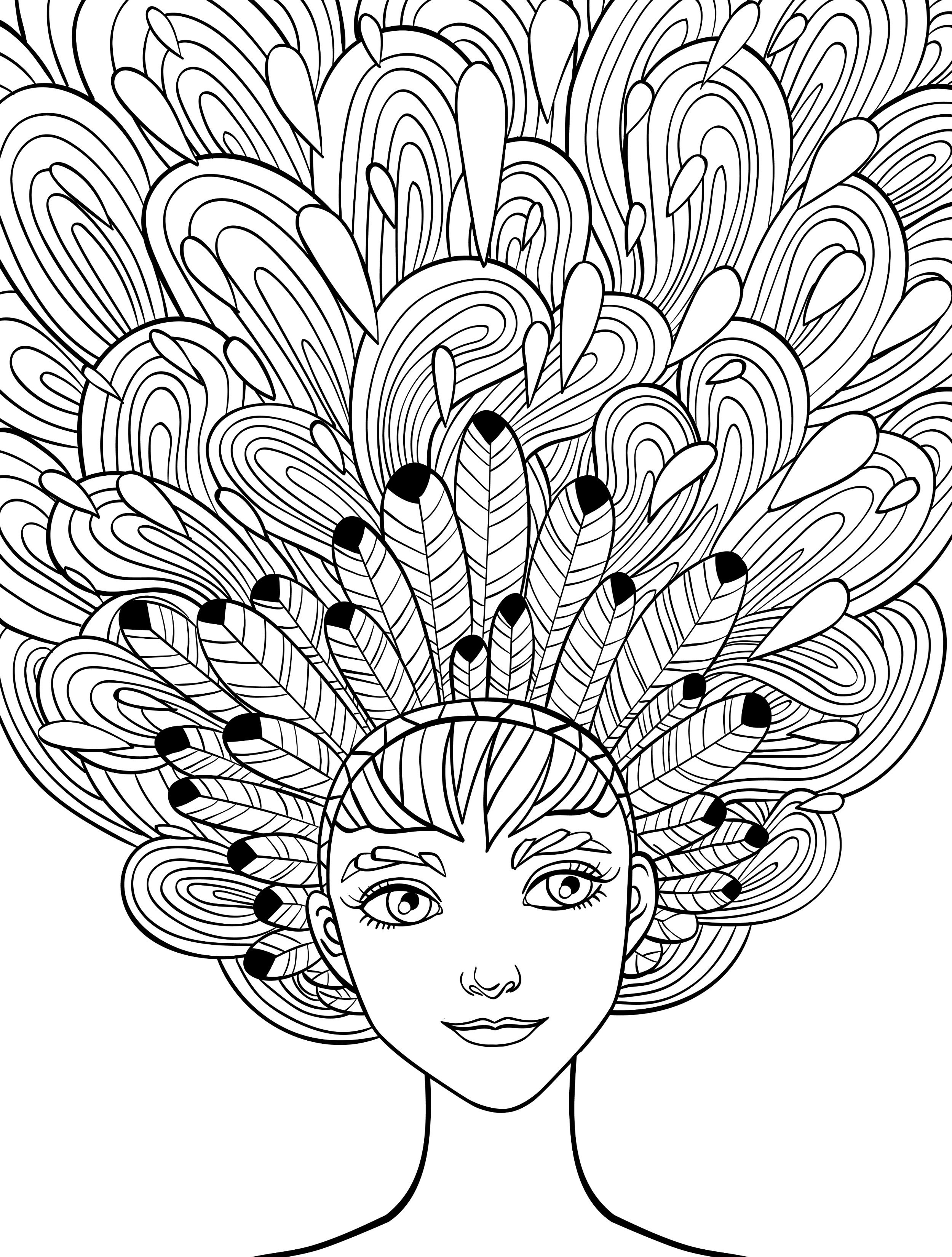 2500x3300 Crazy Coloring Pages Of Hair New Adult