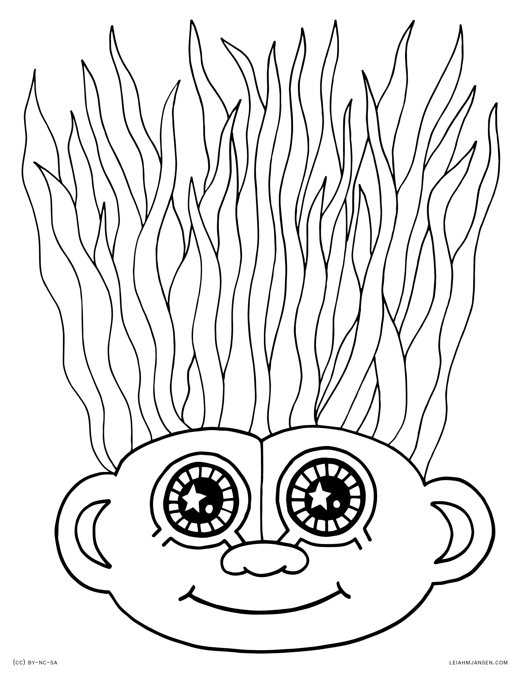 1700x2200 Crazy Hair Coloring Pages Lmj Coloring Page Troll