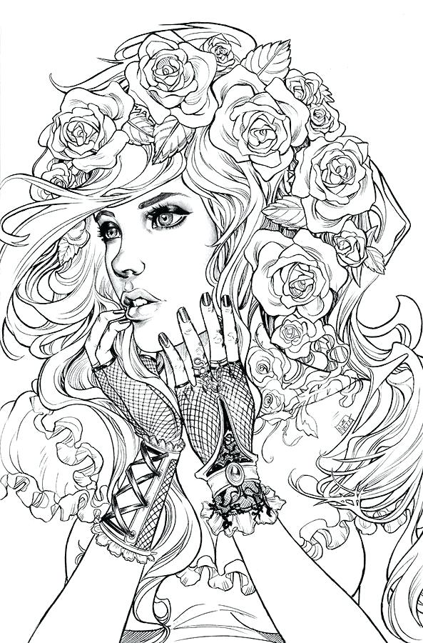 593x900 Hair Bows Coloring Pages