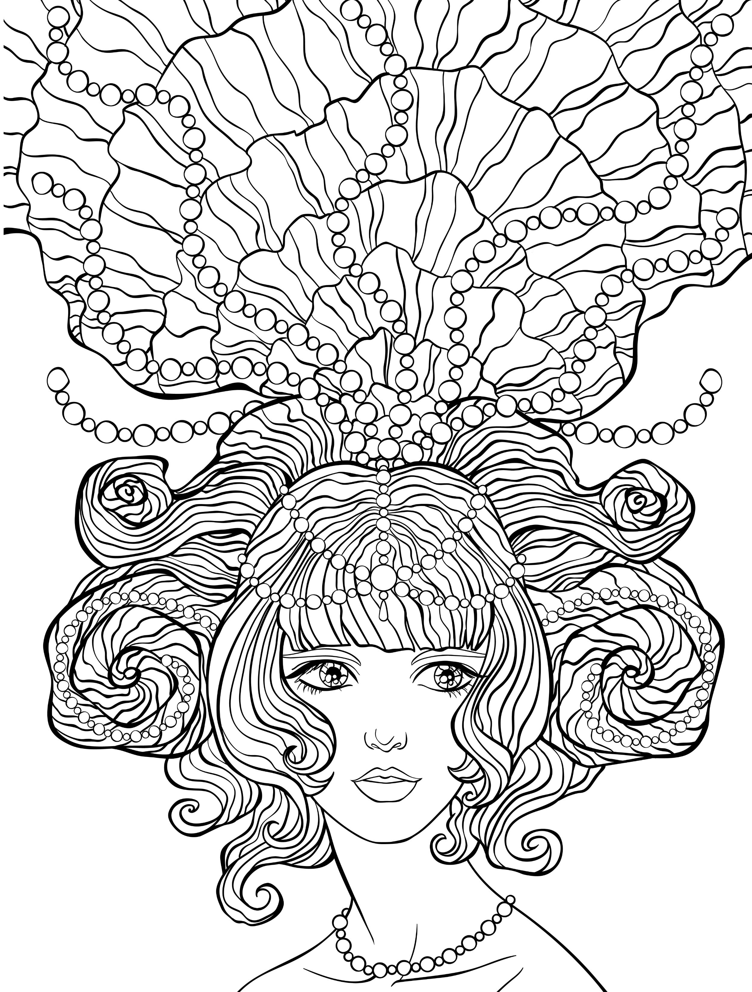 2500x3300 Awesome Crazy Hair Coloring Pages