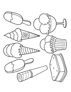 236x305 Ice Cream Coloring Pages Free Printable, Free And Ice Cream Social