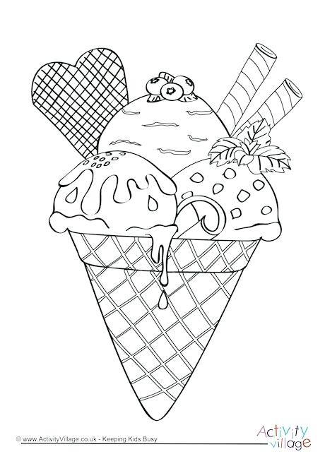 460x650 Ice Cream Coloring Pages Ice Cream Colouring Page Ice Cream