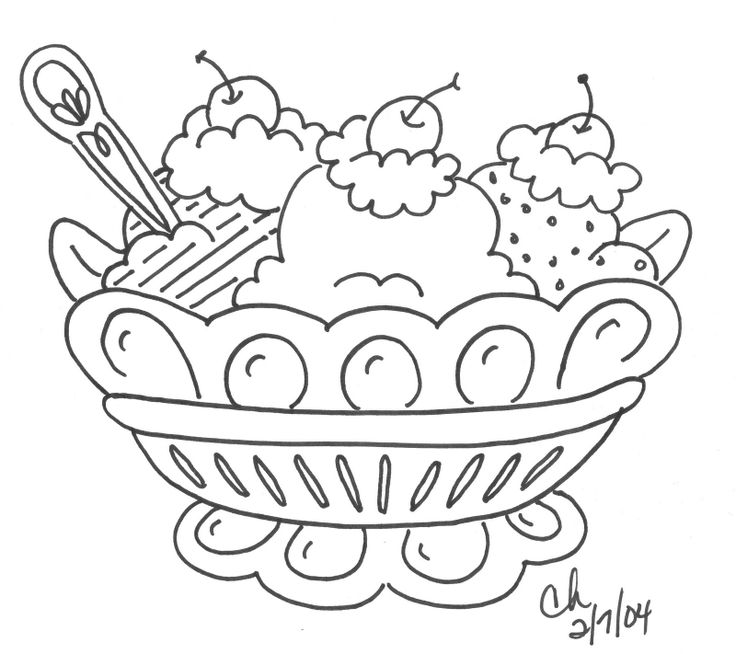 736x654 Ice Cream Sundae Coloring Page Top Ice Cream Coloring Pages