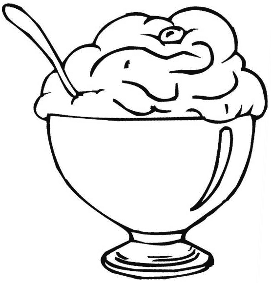 555x584 Ice Cream Coloring Pages