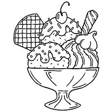 230x230 Top Ice Cream Coloring Pages
