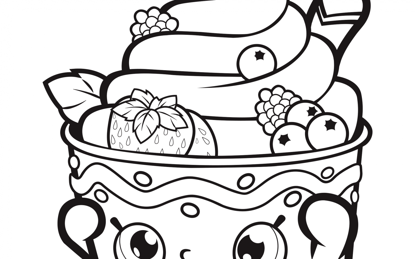 1440x900 Water Melon Ice Cream Coloring Page Free Printable Pages For Kids