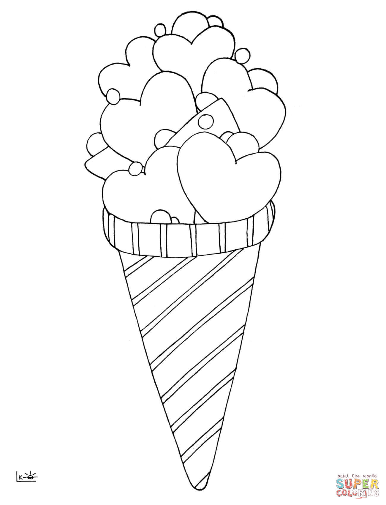1300x1700 Love Ice Cream Coloring Page Free Printable Coloring Pages Ice