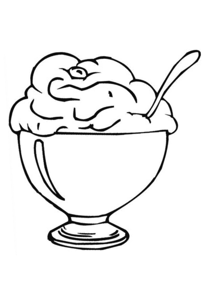706x1000 Ice Cream Coloring Pages
