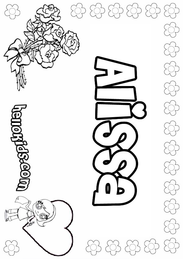 600x849 A Names For Girls Coloring Sheets