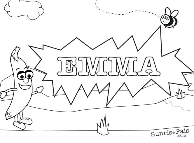 665x490 Create Your Own Coloring Page With Your Name Make Your Own
