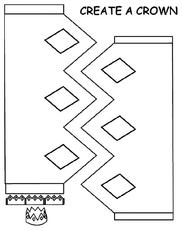 600x763 Create Your Own Crown Coloring Pages