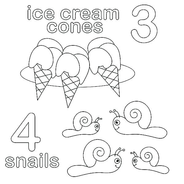Creation Numbers Coloring Pages