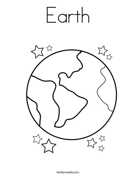 468x605 Earth Coloring Page