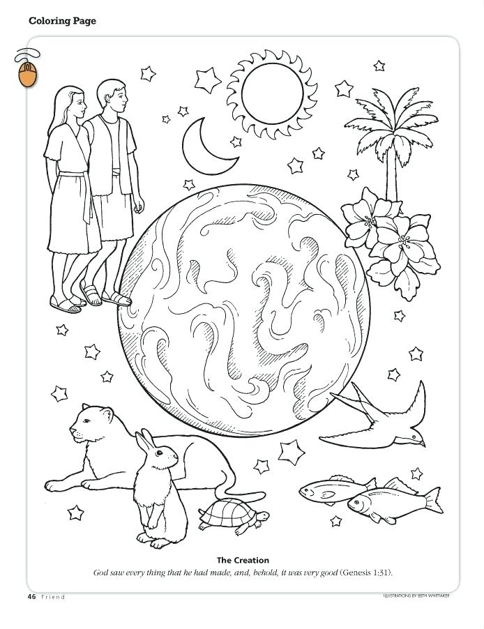 694x902 God Created The World In Days Coloring Pages Creation Page