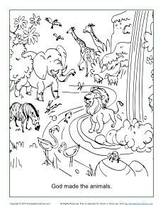 230x298 God Made The Animals Coloring Page Animal, Sunday School And School