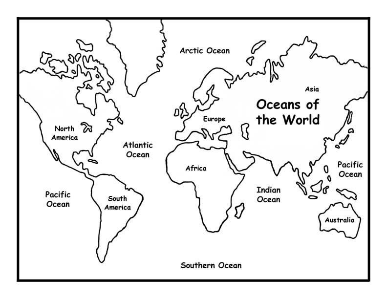 792x612 Oceans Of The World Coloring Page