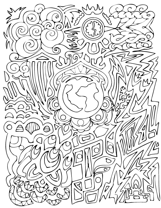 612x792 Out Of This World Coloring Sheet Creation Creatures