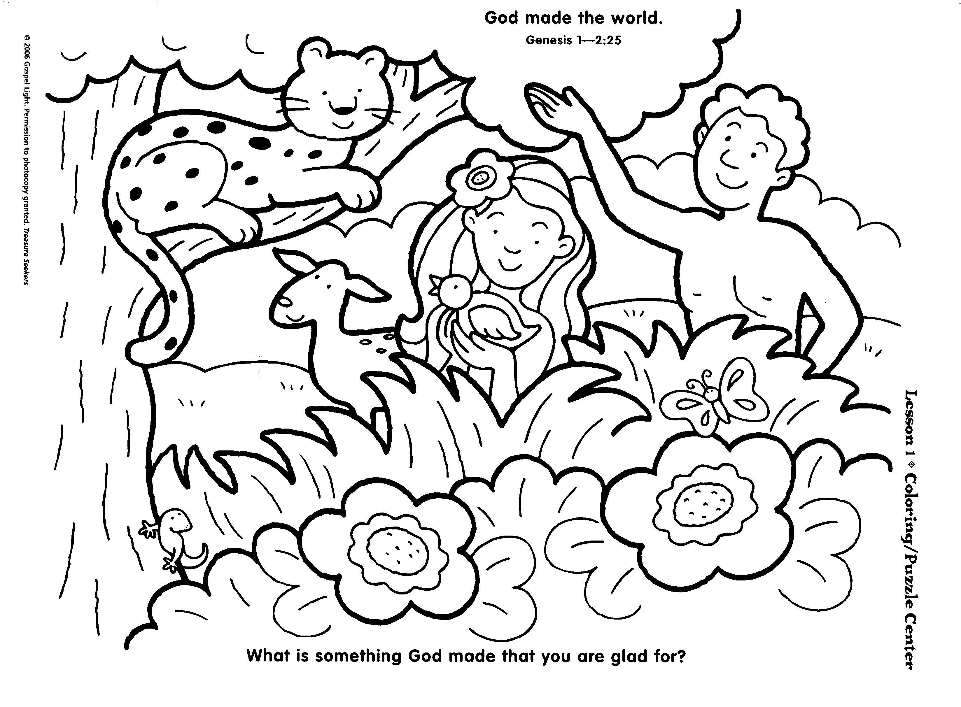 3295x2425 Sunday School Creation Picture Wheel Sunday School Coloring