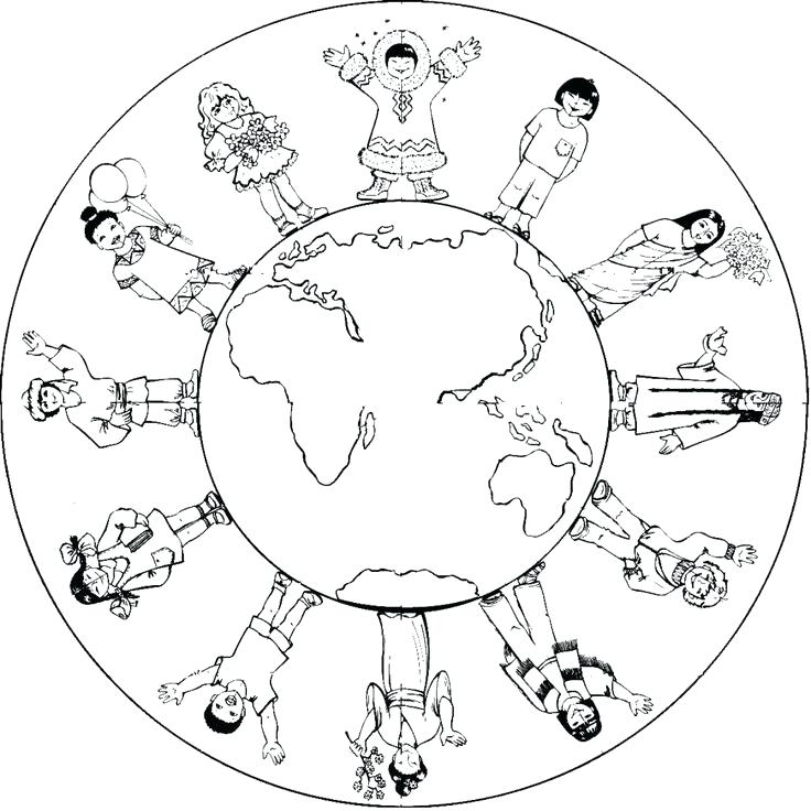 736x736 Coloring Pages Earth Planet Earth Coloring Page Large Size
