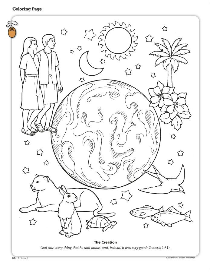 Creation Story Coloring Pages