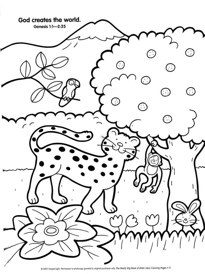 Creation Story Coloring Pages at GetDrawings.com | Free for personal ...