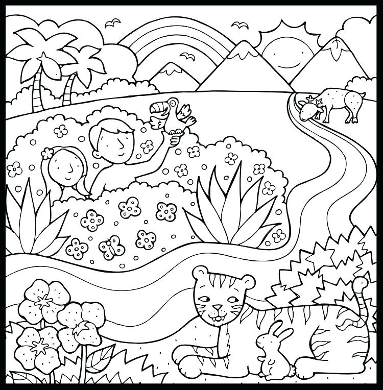 Creation Story Coloring Pages At GetDrawings Free Download