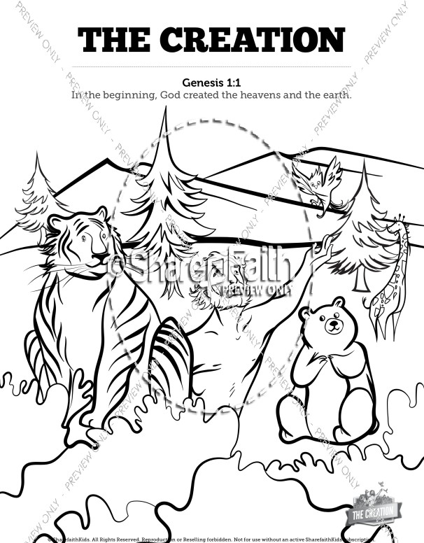 606x776 The Creation Story Sunday School Coloring Pages Sunday School