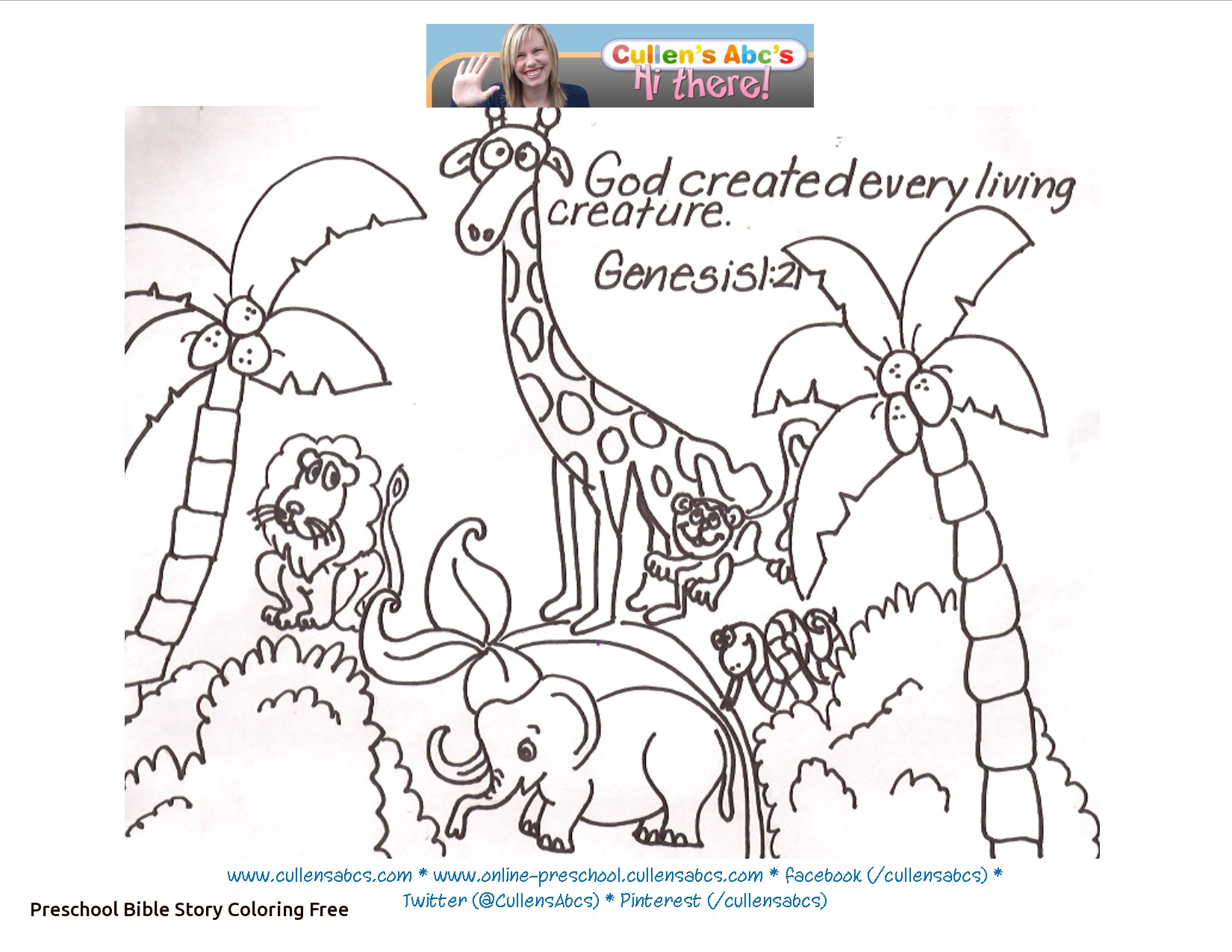 Creation Story Coloring Pages At Getdrawings Com Free For Personal