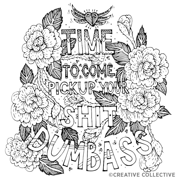 750x750 Free Coloring Page From The Have A Nice Life Asshole Breakup