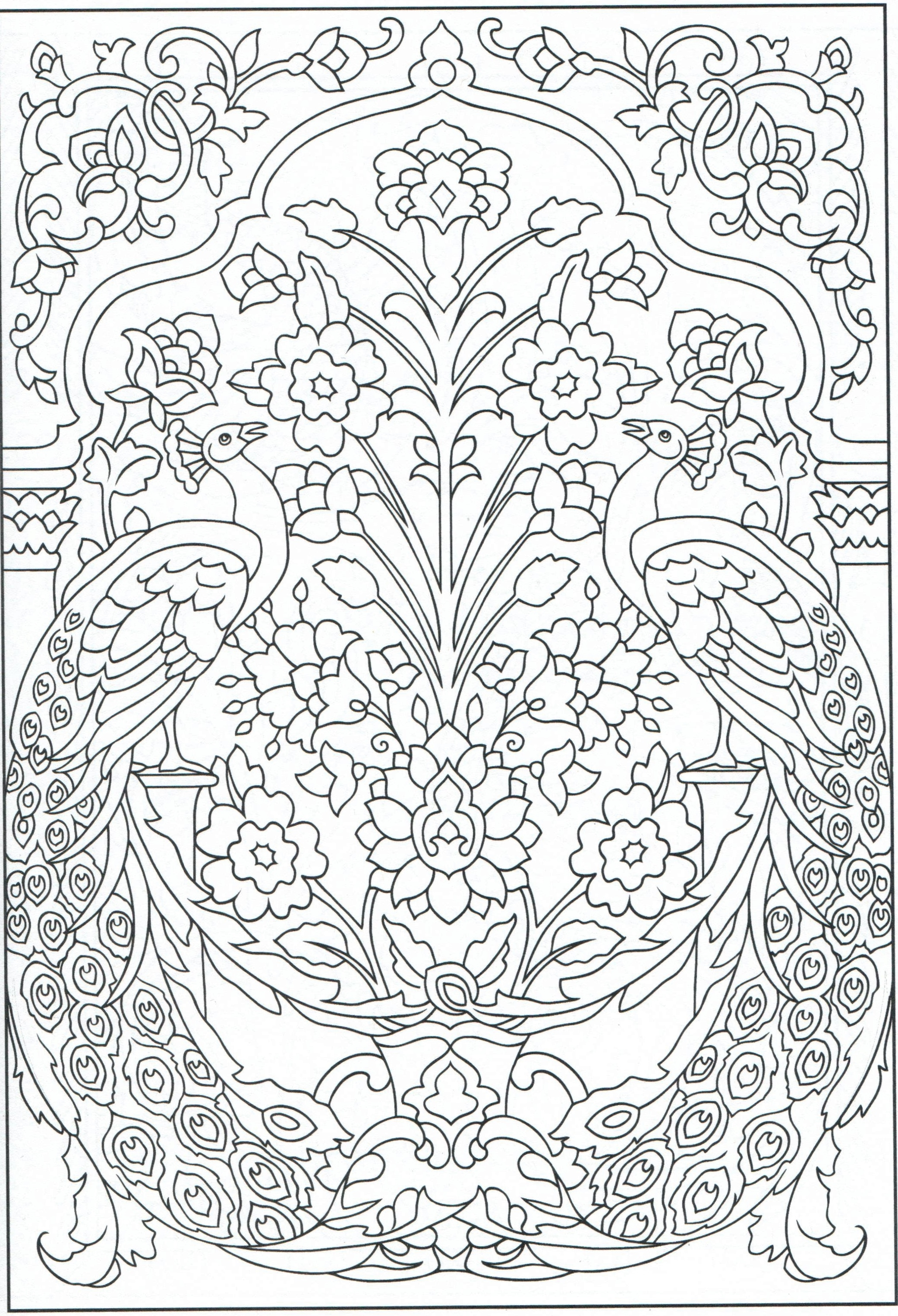 2081x3051 Peacock Coloring Page For Adults Color Pages