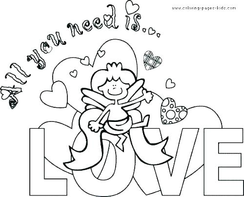 500x404 Coloring Pages Valentine Cards