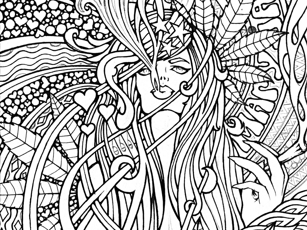 1024x768 Best Of Free Adult Coloring Pages Weed Collection Printable