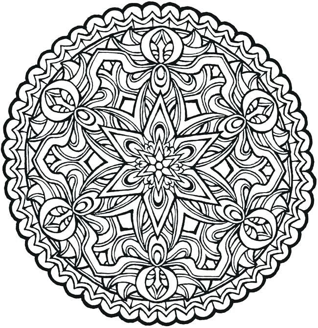 650x671 Cool Printable Coloring Pages Adult Mandala Coloring Pages Plus