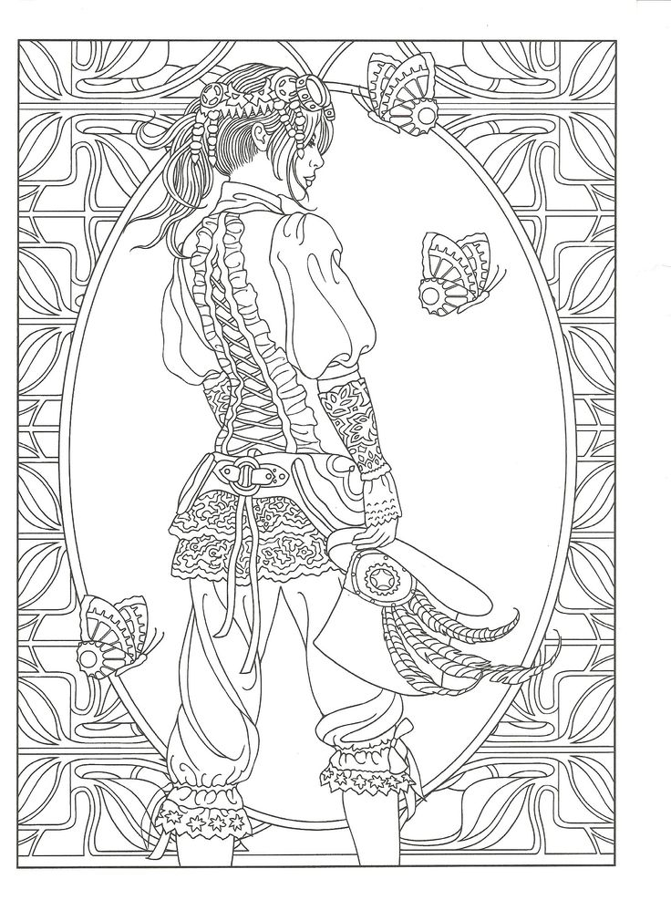 736x987 Best Coloring Steampunk Images On Coloring Books