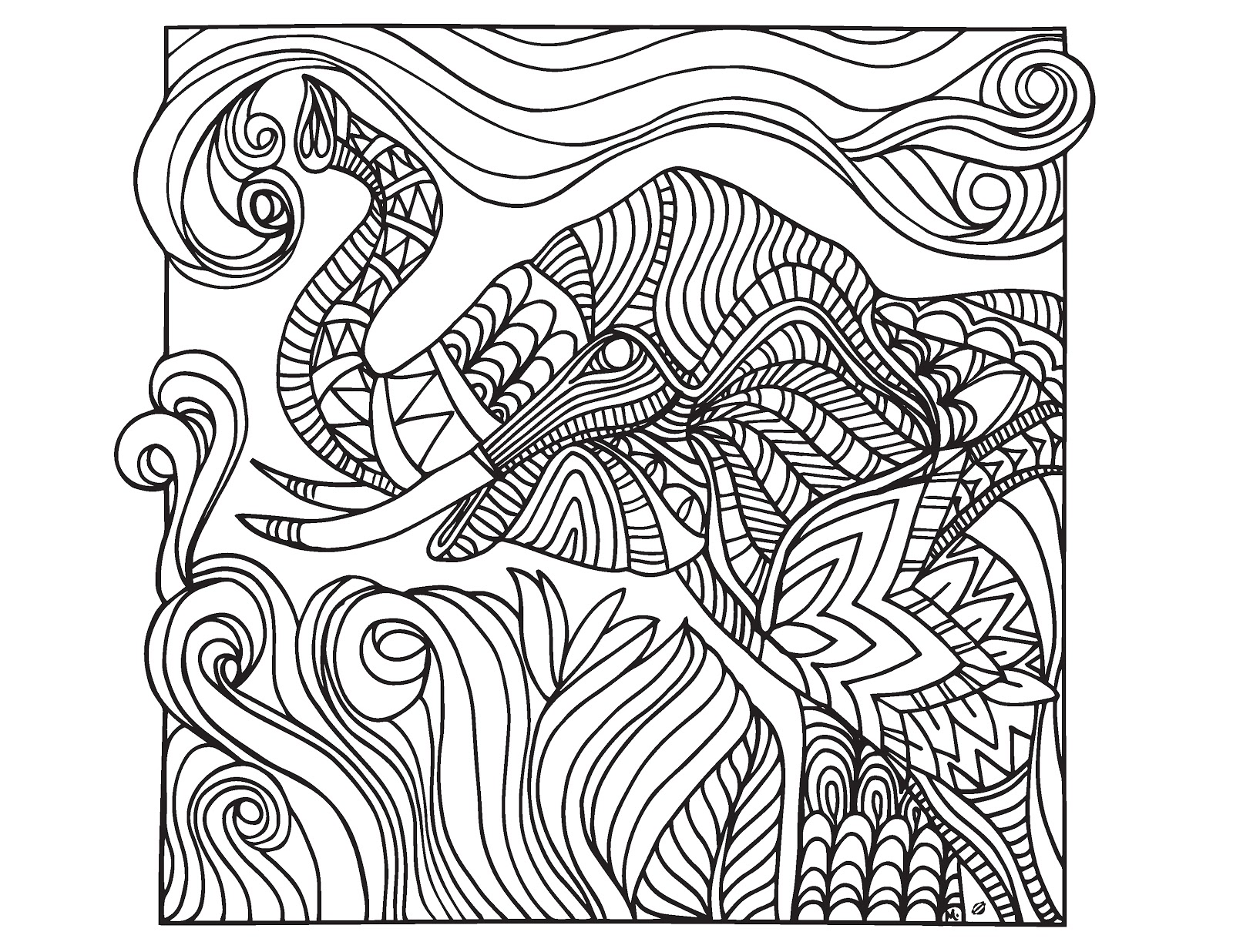 1600x1236 Creative Coloring Pages To Print Free For Adults And Kids