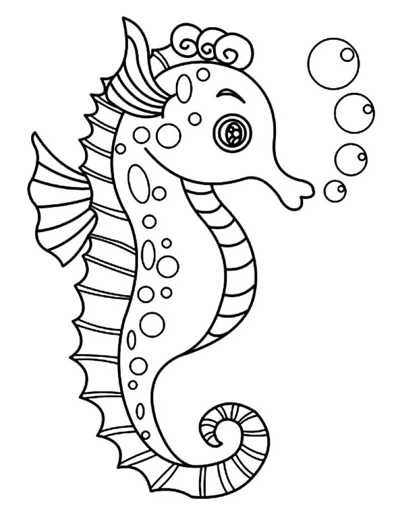 792x1024 Creative Cuties Happy Earth Day Seahorse Coloring Page Beauteous