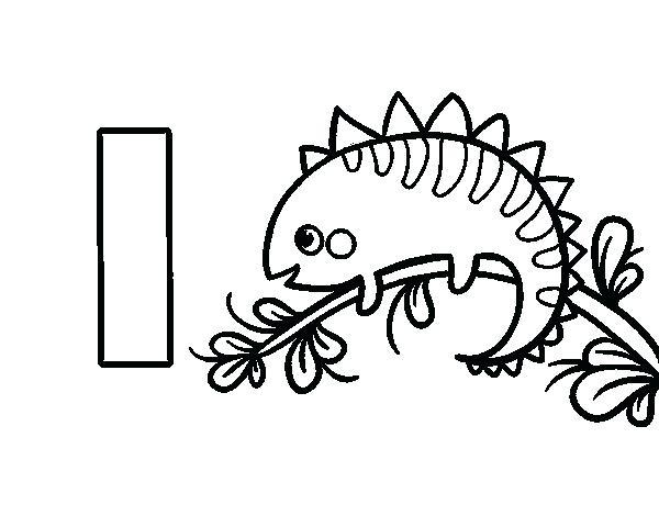 600x470 Creative Cuties Iguana Coloring Page Adorable Creative Cuties
