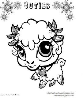 271x320 Creative Cuties Lamb Coloing Page Coloring